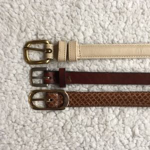 Accessories - Three thin leather belts
